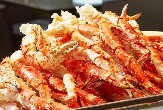 ハプナ名物「ゆで蟹」