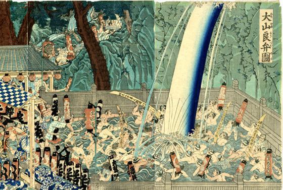 葛飾北斎の浮世絵、「諸国滝廻り」