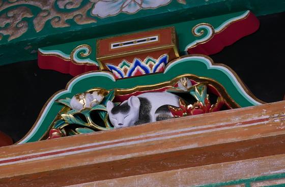 眠り猫を見逃さないように