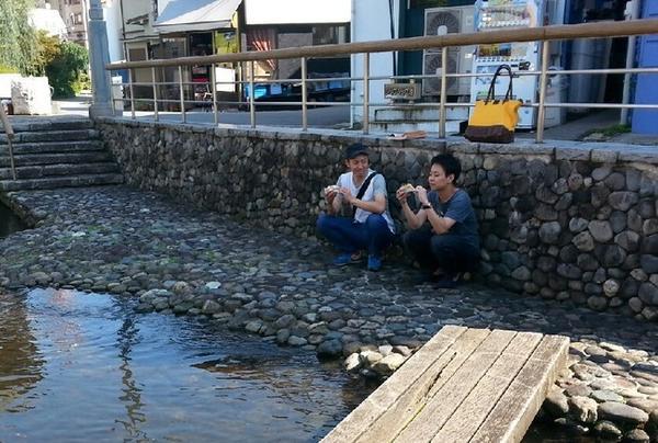 釜川でスイーツタイム